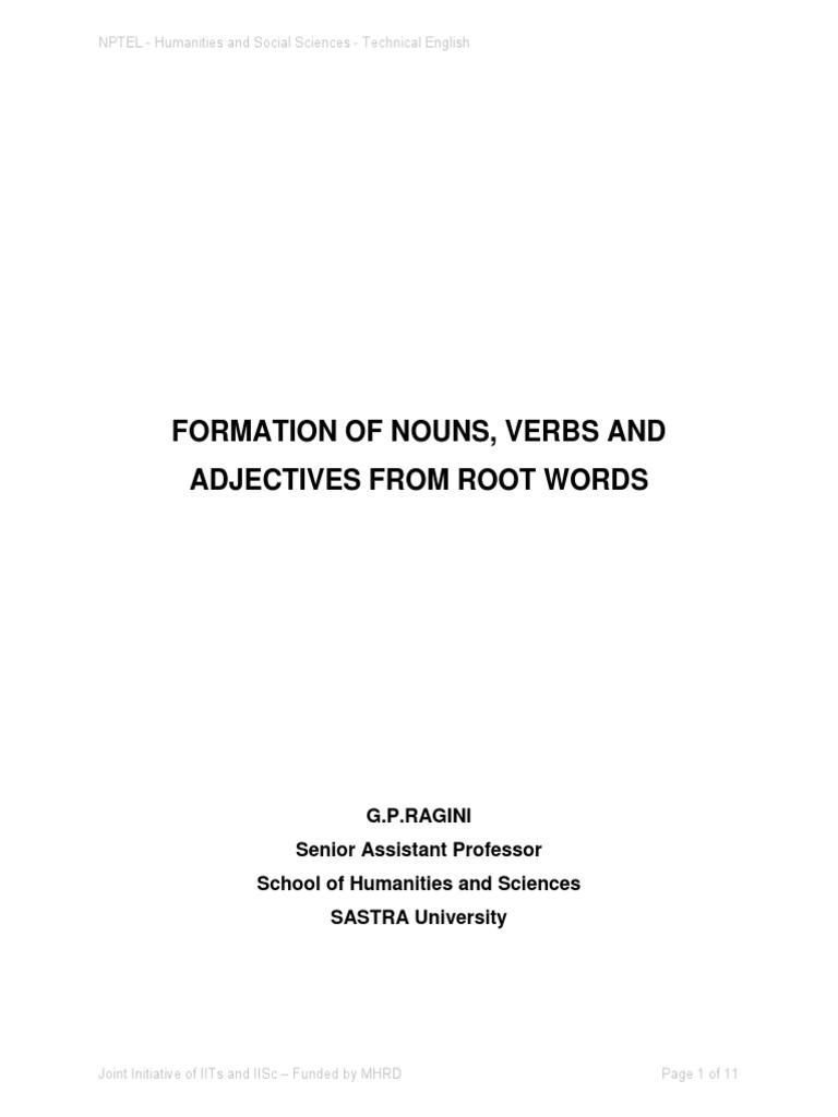 Analyse noun and adjective list pdf backwards