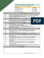 nrhs junior checklist