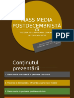 Mass media postdecembrista