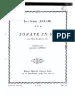 Sonate en UT - Jean-Marie Leclair