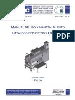 m062 - Manual Hiladora Completo Fv200 - Spa 2013