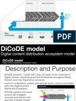 DiCoDE Model - Digital Content Distribution Ecosystem
