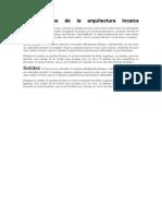 Características de La Arquitectura Incaica