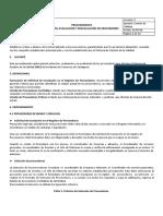 Procedimiento Seleccion, Evaluacion y Reevaluacion de Proveedores