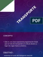 Investigciones de Operaciones_transporte