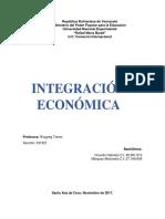 Informe de La Integración Económica