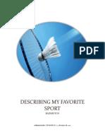 Example of Describing My Favorite Sport 2017