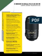Descripcion Lente 50-300 Nikon