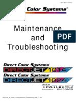 DCS Direct Jet 1024UV 1014UV Maintenance Troubleshooting Guide 2.1