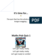 Maths Pub Quiz 1