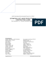 Estimating Lost Labor Productivity In