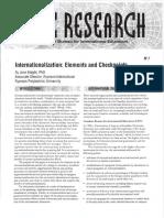 CBIE Internationalization Elements and Checkpoints