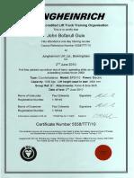 John Bofarull Guix's Jungheinrich Counterbalance ITSSAR achieved June 2010
