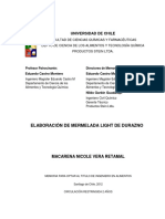 Elaboracion de Mermelada Light de Durazno