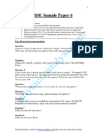 CBSE Sample Paper -6