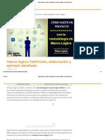 Marco Lógico_ Definición, Elaboración y Ejemplo Detallado - Ingenio Empresa