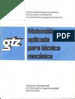 MATEMATICA APLICADA Gtz Metal Mecanica Con Solucionario