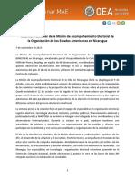 Informe Preliminar Misión Acompañamiento Electoral Nicaragua 2017