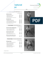 Postural Assessment Sheets