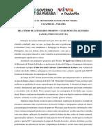 Relatório Do Projeto de Leitura 2017 - Versão Final