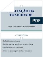 Unip Avaliação Da Toxicidade.ppt