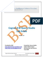 Cognos 8 BI Query Studio Lab Guide