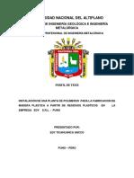 PERFIl de Proyecto Polimeros
