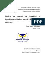 Medios de Control de Legalidad y Constitucionalidad en Materia Tributaria y de Derechos