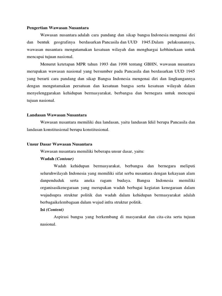 Artikel Wawasan Nusantara