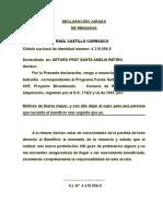 _renuncia Subsidio Vivienda Bicentenario