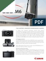 EOS M6 Tech Sheet