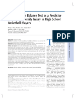 SEBT as a Predictor of Lower Extremity Injury in High School Basketball Players