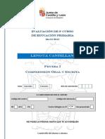 Prueba i. Compr Oral Escrita Cuadernillo Del Alumno