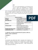 Tarea IV Evaluacion de la Personalidad.docx