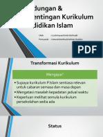 Kandungan & Kepentingan Kurikulum Pendidikan Islam