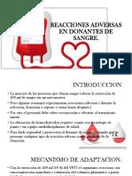 Reacciones Adversas en Donantes de Sangre