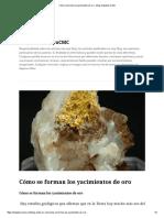 Cómo Se Forman Los Yacimientos de Oro – Blog VentadeoroCMC