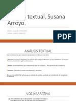 Análisis Textual, Susana Arroyo