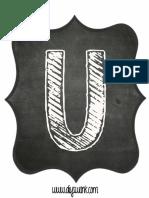 Printable Chalkboard Letter U
