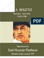 Speeches of Z. A. Bhutto 1948-66