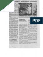 Manson Whitlock Obituary