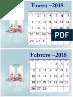 CALENDARIO BTS 2018 PERU