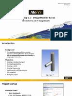 DM-Intro 17.0 WS1.1 DesignModeler Basics