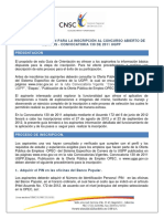 Guia de Inscripcion Convocatoria No.130 de 2011 Ugpp