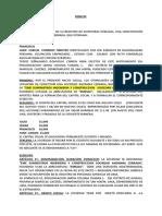 Minuta de Constitución de Empresa COINTRERAS