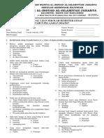 Soal IPS Kelas XII Semester II