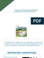 Conceptualizacion y Operacionalizacion de Variables Imagenes Ppt