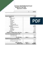 ECWA Budget 17-18