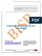 Cognos 8 BI Report Studio Lab Guide