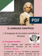 El Lenguaje Científico